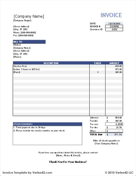 bill invoice xls | complaint letter and reply complaint letter, Invoice examples