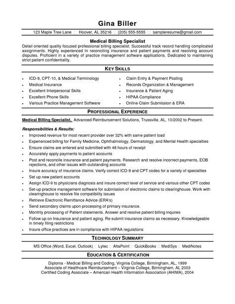 customer service billing administrator resume