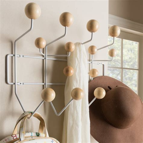 Bilokur Mid-Century Modern Wall Mounted Coat Rack