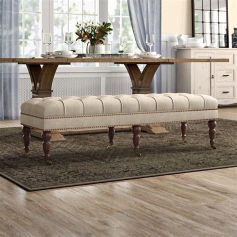 Bitteridge Transitional Wood/Upholstered Bench