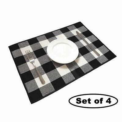 Black And White Checkered Placemats  Ebay.