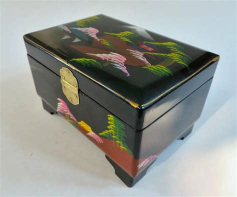 black japanese jewelry box