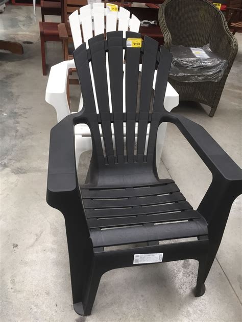 Black Resin Adirondack Chairs
