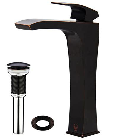 Blackstonian Single Hole Bathroom Faucet with Optional Drain Assembly