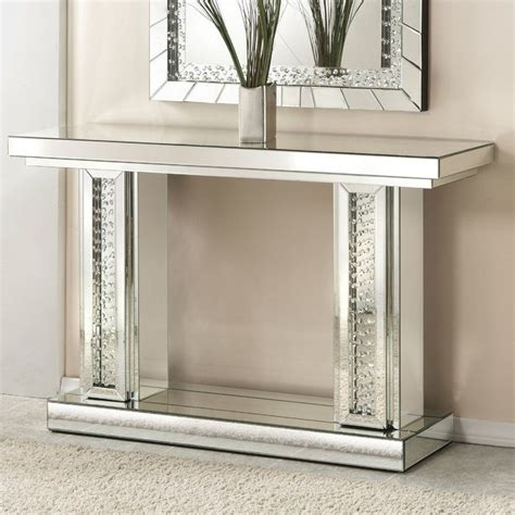 Bladwell Rectangle Mirrored Console Table