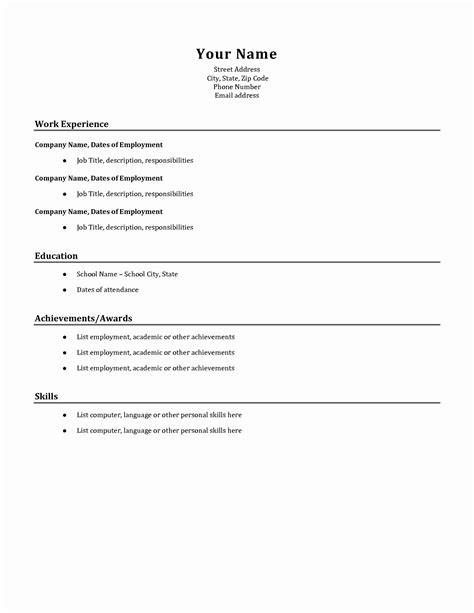 What Should I put on my First CV   Template      How To Write Resume For Casual Job Examples Pertaining A    Outstanding