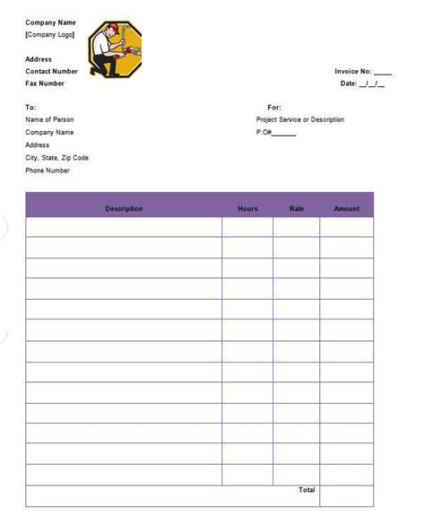 blank plumbing invoice | formal letter sample malay, Simple invoice