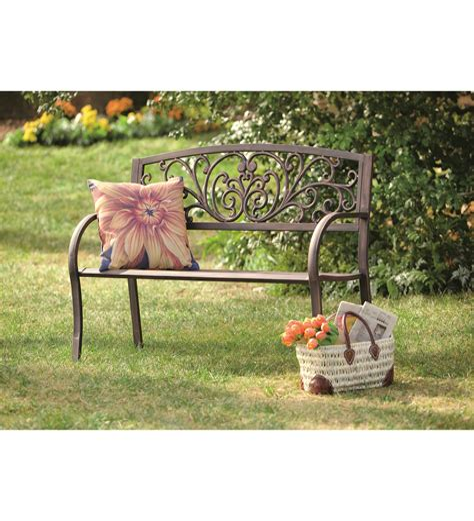 Blooming Iron Garden Bench