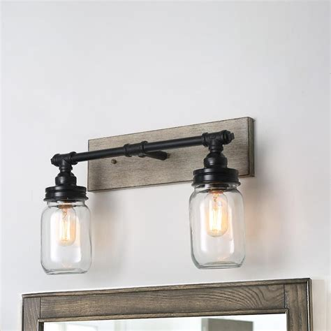 Blow Glass Jar 2-Light Vanity Light