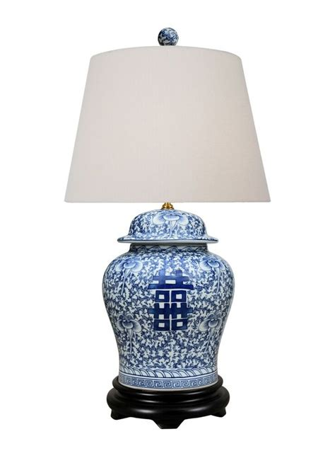 Blue And White Ginger Jar Lamp  Ebay.