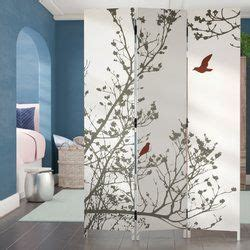 Bluestar 71 x 48 Bird 3 Panel Room Divider