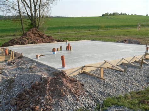Bodenplatte Haus Garage
