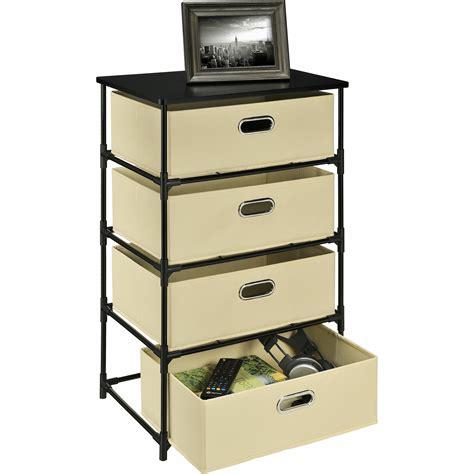 Bohnsack 4 Drawer Storage Unit End Table