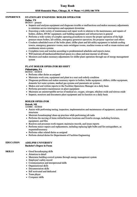 sample resume for boiler engineer boiler plant operator resume example best sample resume - Boiler Engineer Sample Resume