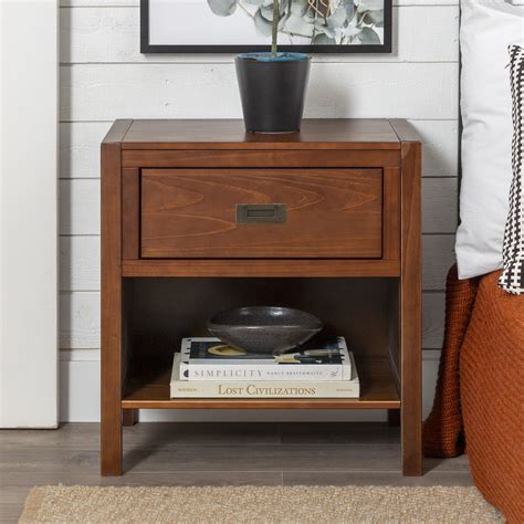 Bois 1 Drawer Nightstand