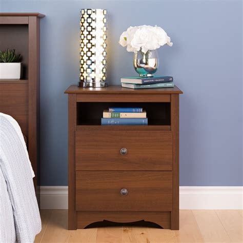 Bois 2 Drawer Nightstand