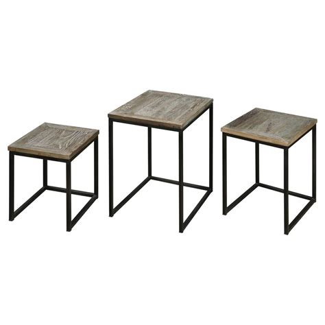 Bomani 3 Piece Nesting Table by