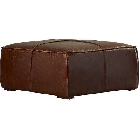 Bonita Leather Ottoman