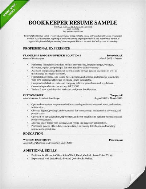 bookkeeper resume sample summary sample bookkeeper resume job interviews interview