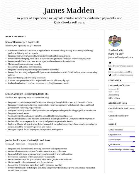 bookkeeping resume skills best bookkeeper resume example livecareer