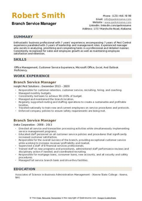 branch manager resume banking best resume ever seen