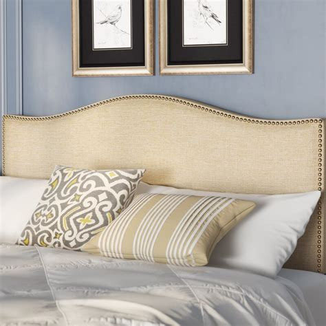 Bransford Curl Upholstered Headboard by Charlton Home