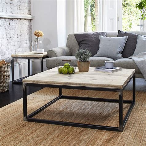 Branstetter Metal and Wood Rectangular End Tabl by