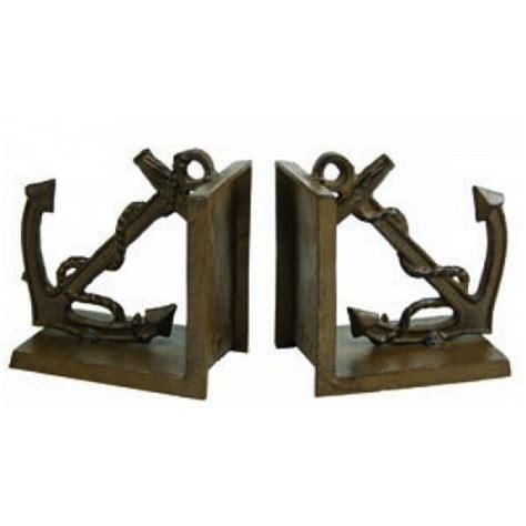 Brass Brass Anchor Bookends.