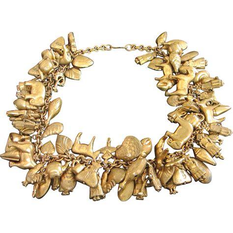 Brass Brass Charm Necklace.