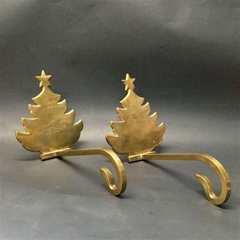 Brass Brass Christmas Tree Stocking Holder.