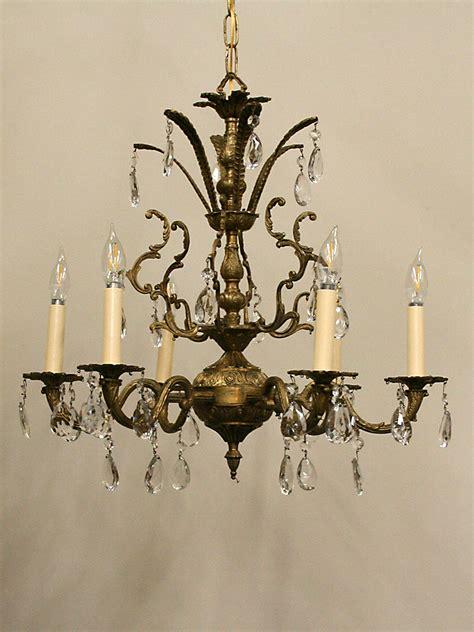 Brass Brass Crystal Chandelier Made In Spain.
