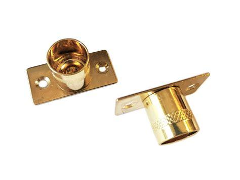 Brass Brass Curtain Rod Brackets.