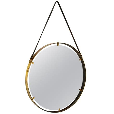 Brass Brass Hanging Mirror.