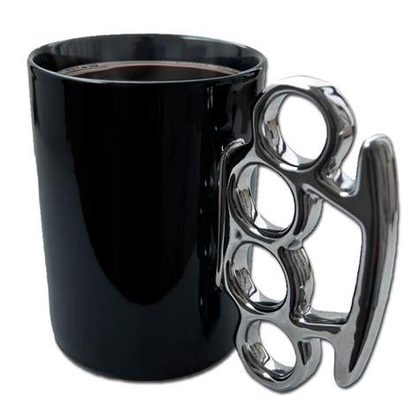 Brass Brass Knuckle Coffee Mug Black.