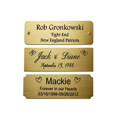 Brass Brass Name Plates For Picture Frames.