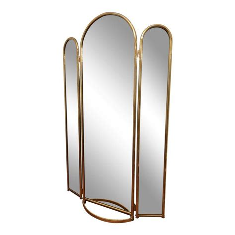 Brass Brass Tri Fold Mirror.