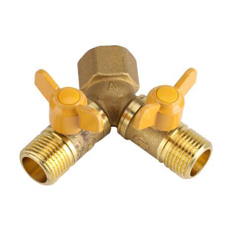 Brass Brass Twin Tap Connector.