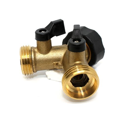 Brass Brass Two Way Hose Connector.