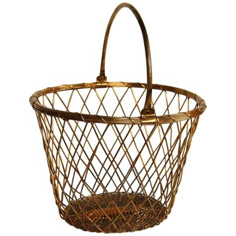 Brass Brass Wire Basket.
