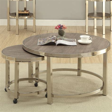 Brassiewood 2 Piece Coffee Table Set