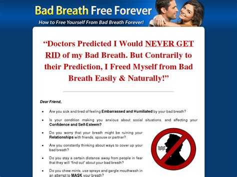 [click]breathfor - Bad Breath Free Forever  Brand New With A 13 .