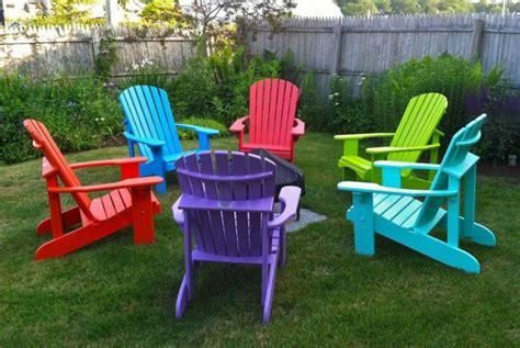 Bright Colored Adirondack Chairs