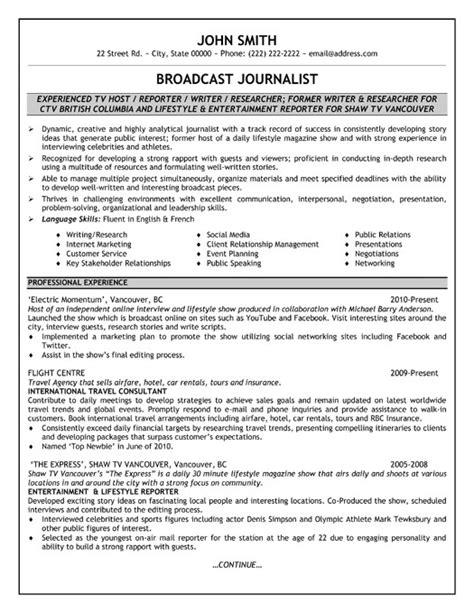 broadcast journalism resume sample find a blank invoice form journalism resume sample