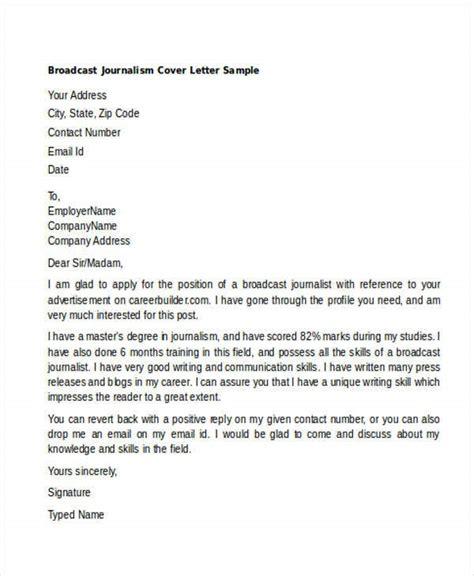 journalism cover letter sample