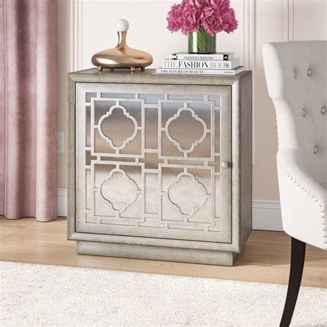 Brockley Mirrored Overlay 1 Door Accent Chest