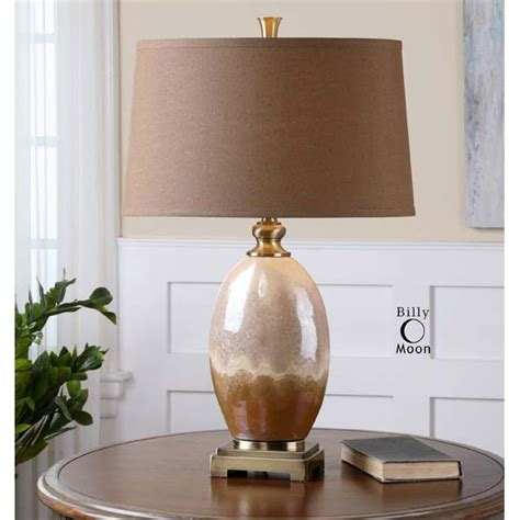 Brown Ceramic Table Lamp  Ebay.