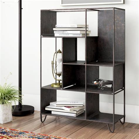 Brown Iron Cube Unit Bookcase