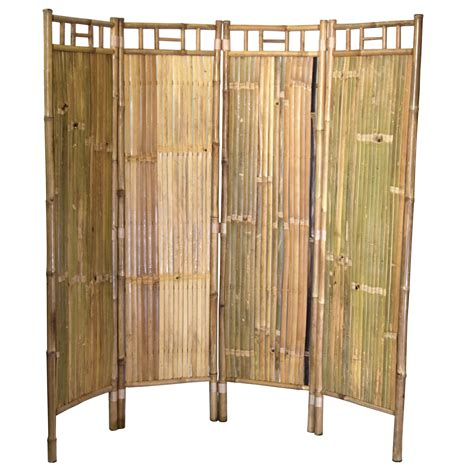Brucknell 63 x 64 Bamboo Screen 4 Panel Room Divider