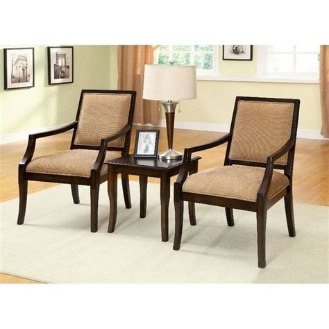 Bruna 3 Piece Accent Armchair Set