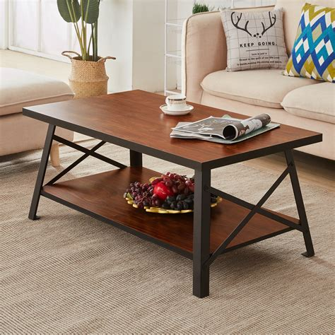 Brundrett Coffee Table with Storage Shelf